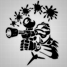 Paintball Wall Decals, Paintball Room Theme, Paintball Sticker 22""