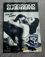 SCORPIONS First Sting 1984 B&W Sony Video PROMO Music Mini Pinup Poster GVG C5