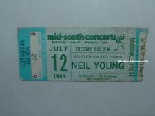 NEIL YOUNG 1983 Concert Ticket Stub MEMPHIS TN MID-SOUTH Rare CSN&Y Springfield