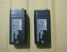 2pcs SUNCA 4v 500mAh(0.5Ah) Rechargeable SMF Battery 2 pcs