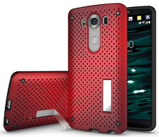NEW RED AIR NET HEAT DISSIPATION CASE SLIM COVER STAND FOR LG V10 PHONE