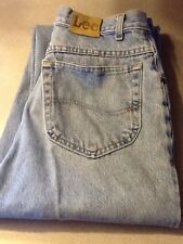 VINTAGE DESTROYED LEE THICK DENIM JEANS 33 X 34  (MEASURES 30 X 33)
