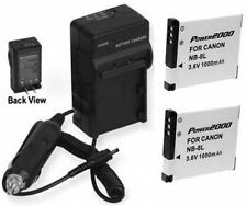 TWO 2 NB-8L Batteries + Charger for Canon A2200 A3000 A3100 A3200 A3300 A3150 IS