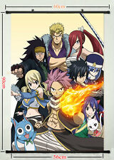 Fairy Tail  Anime Silk Fabric Poster Wall Scroll Living Room Decoration FT 001