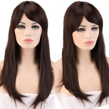 Colorful Synthetic Coslay Wig Long Curly Wave Straight Full Wigs With Bangs USA