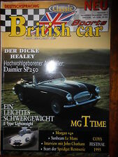 Zeitschrift British Car Sports Deutschsprachig Daimler SP 250 MG Time Morgan