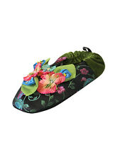 Mackenzie Childs Complements FRIVOLI SLIPPERS - Size LARGE Goody NEW $48