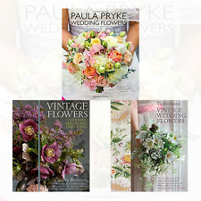 Flowers Collection 3 Books Set Vintage Flowers,Paula Pryke Wedding Flowers,New