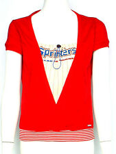 NEW MISS SIXTY TOP BLOUSE  6 10 M $150 WOMEN RED COTTON
