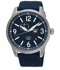 Seiko 5 Automatic SSA301 Blue Dial Blue Nylon Band Men's Watch