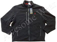 New Ralph Lauren Polo Classic Black Poly Fleece Zip Up Performance Jacket sz XXL