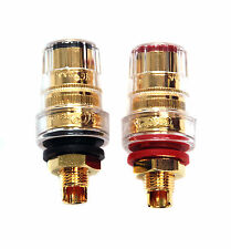 4 pair CMC Speaker Binding Post Female Socket 858-SG Gold Plated USA Cu 858-S-G
