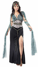 Ladies Medusa Fancy Dress Costume Black & Green Womens Halloween Outfit UK 10-14