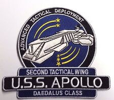 "Stargate SG-1/Atlantis USS Apollo  Logo 5"" Uniform Patch- FREE S&H (SGPA-32-App)"