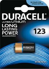 10 BATTERIES DURACELL CR123 3V LITHIUM CAMERA 123A DL123A CR17345 ELCR123AP