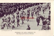 FUNERAL OF KING EDWARD VII. The Kings and Princes at Windsor. Daily Mirror photo