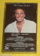 Paul Anka – His Best 1977 Vocals NEW Liberty Cassette Nice SEE!