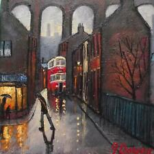 Chestergate Stockport : Original BEST Oil Painting Famous Artist James Downie