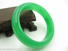 FINE Chinese Full Green Jade Jadeite Smooth Bangle / Size:59mm