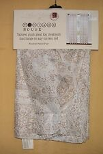 Vintage House 2 pinch pleat panels window curtains drapes Linen Beige set $98