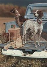 "Opening Day Pointers By Scot Storm Hunting Dog Print Signed  10"" x 14"""