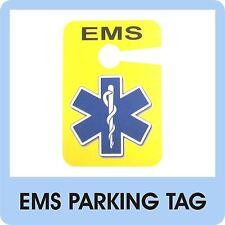 EMS Parking Tag EMT Paramedic EMR FR Medic Patch Badge Service Ambulance Car D09