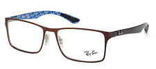 NEW AUTHENTIC RAY- BAN  EYEGLASSES RB8415 2862 CARBON FIBER BROWN/SILVER 53-17