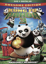 KUNG FU PANDA 3 AWESOME EDITION: BLU-RAY, DVD, DIGITAL HD: BRAND NEW 2016