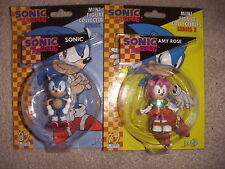 SONIC THE HEDGEHOG 2 x MINI FIGURE COLLECTIBLES AMY ROSE AND SONIC New + Sealed