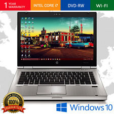 HP LAPTOP ELITEBOOK INTEL CORE i7 WINDOWS 10 PRO 4GB 250GB DVDRW WEBCAM WiFi PC