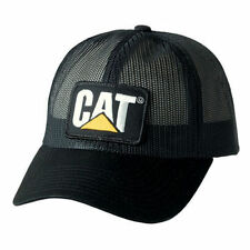 CAT CATERPILLAR *BLACK FULL MESH TRUCKER* TRADEMARK LOGO HAT CAP * NEW* CA15