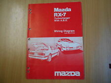 Wiring diagram Mazda RX-7  Turbocharger with ABS (Left hand drive) 1986