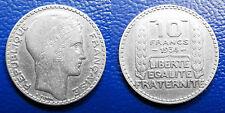 MONETA 10 FRANCHI FRANCIA 1934  ARGENTO SILBERMüNZEN SILVER PLATA