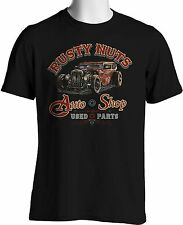 Hot Rod T Shirt Rusty Nuts Rat Rod Funny Auto Repair Tee Mens S to 6XL and Tall