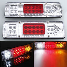 2x 12V 19 LED Truck Trailer Caravan Van Rear Tail Reverse Light Indicator Lamp