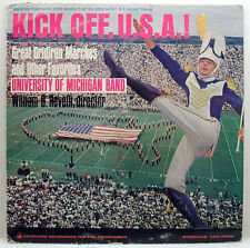 University Of Michigan Band Kick Off USA 1964 STEREO Vanguard Stereolab LP