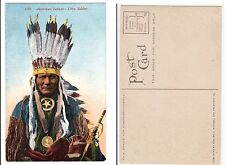 Indios jefe Little Soldier Indian Chief Native American Indian c.1915
