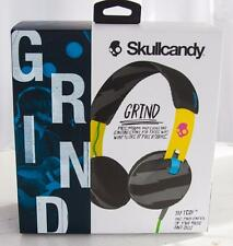 Skullcandy Grind Headphones Tap Tech #S5GRHT-466 Yellow/Black New in Sealed Box