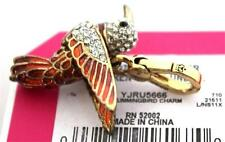 NWT Juicy Couture GOLD PAVE HUMMINGBIRD CHARM Crystal Bird WINGS MOVE! Animal
