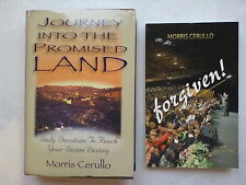 MORRIS CERULLO.JOURNEY INTO THE PROMISED LAND,PLUS,FORGIVEN!.1ST 2006,NEW UNREAD