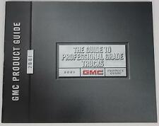 GMC 2001 Product Guide - Professional Grade Trucks Sales Brochure / Literature