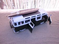 "1962 CLASSIC VW BUS 6"" WOOD SURFBOARD 2 STRINGER LONGBOARD 60'S SURF LOGO'S 1:24"
