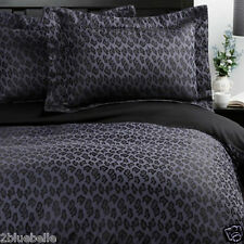 Agent Provocateur super king silk duvet cover & 4 pillowcases midnight leopard