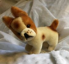Grisly Small Stuffed Bulldog Bully Dog  Animal Made in West Germany 100% Mohair