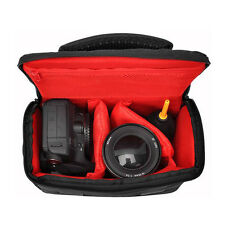 Black Waterproof SLR DSLR Bridge Camera Shoulder Carry Case Bag + Rain Cover