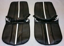 1967 CHEVROLET NOVA SS BLACK & WHITE FRONT BUCKET SEAT COVERS IN STOCK CHEVY II