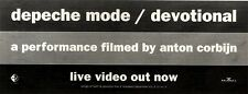 4/12/93PGN22 DEPECHE MODE : DEVOTIONAL LIVE VIDEO ADVERT 4X11""