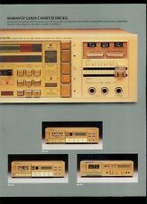 Super Rare Vintage Marantz Gold Cassette Decks & Players Dealer Brochure