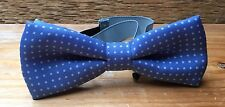 Blue & White Polka Dot Gents Bow Tie/Suiting/Summer/Sophos/Dapper Style/Wedding
