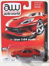 AUTO WORLD 1984 FORD MUSTANG SVO #3 Red True 1:64 NEW TOOL B